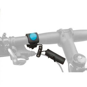 M-Wave elektrisk ringeklokke Ringeklokke Ø22,2-31,8mm sort/turkis